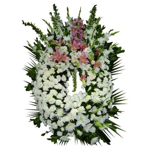 Envio corona funeraria buena suerte