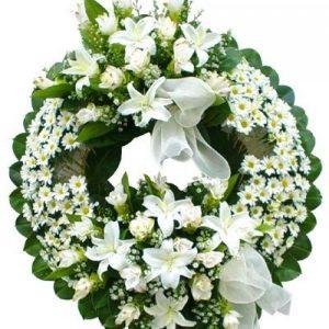 Envío corona de flores luz